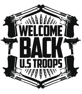Koszulka Męska Welcome back U.S. TROOPS !