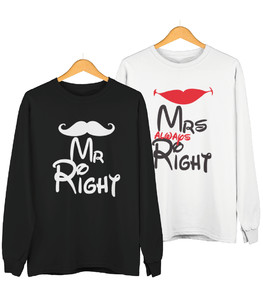 Bluza Classic - Mr Right Mrs always Right - Zestaw komplet