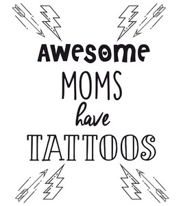 Koszulka tatuaże - Awesome MOM have Tattoo
