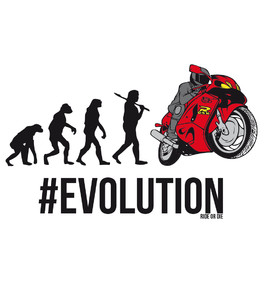 Koszulka męska - #Evolution - Ride or die - Evolution
