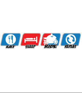 Koszulka Damska - Eat, Sleep, RIDE, Repeat -