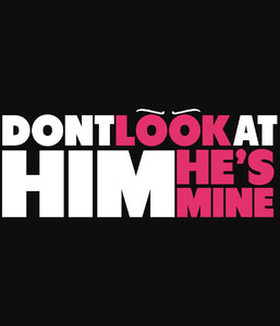 ZESTAW 2x Kurtka Bluza College Baseball dla par - Don't Look HER HIM She He is mine -